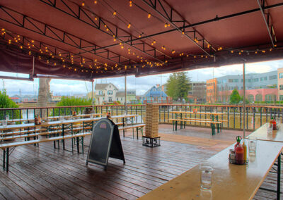 Outdoor view of finished commercial patio property